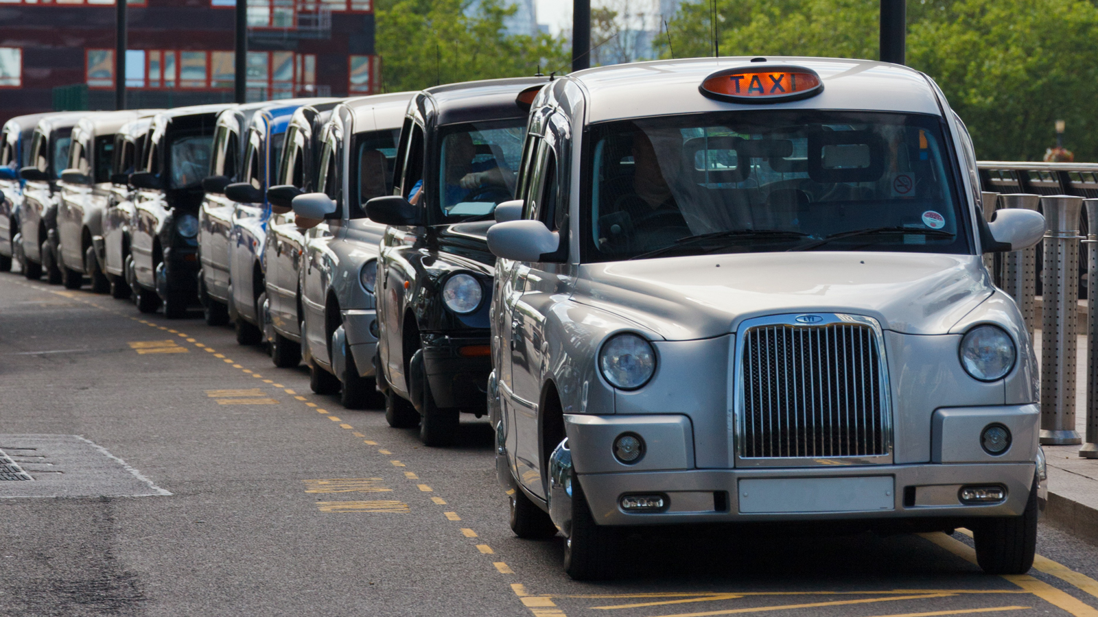 A taxi rank in London