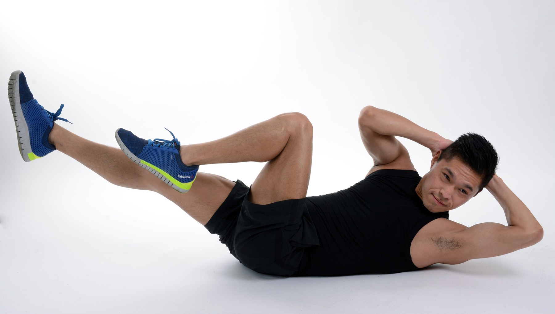 A man performing an ab exercise